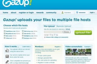 Gazup simultaneously upload your files to multiple host