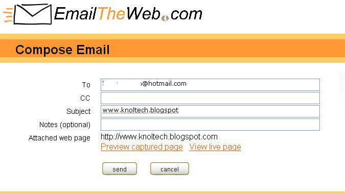 emailtheweb