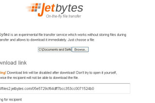 Transfer your files directly via JetBytes