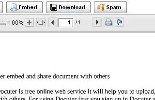 Docuter embed and share document with others