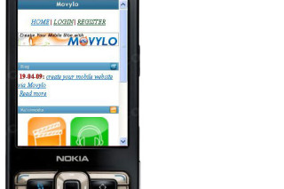 Create your mobile website via Movylo