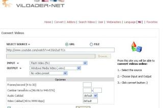 Viloader online free video converter