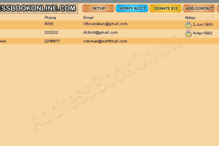 AddressBookOnline online Address book access any where