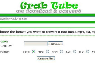 Convert your favorite videos via grab-tube