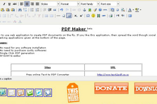PDFMaker create your own PDF documents on your wish