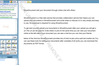 ShowDocument edit your online document chat with others