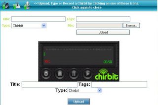 Chirbit record audio files and share with others