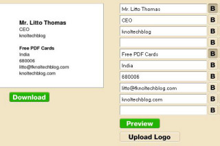 Design  your business cards online via freepdfcards