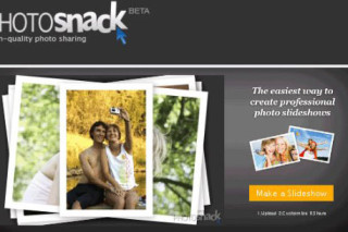 PhotoSnack high quality photo slide show and share with others