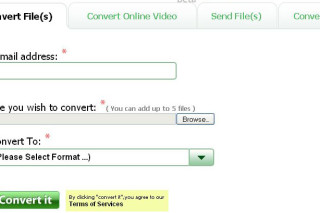 Youconvertit convert files, convert online videos and sent files to others via email