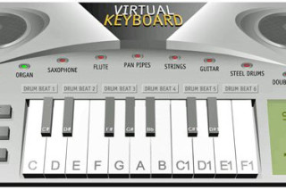 VirtualKeyboard play music instruments online