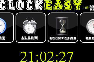 Clockeasy set alarm and a countdown timer online
