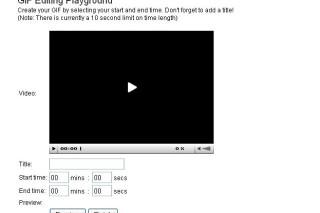 Gifsoup convert youtube videos into animated gif