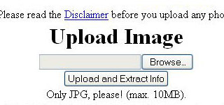 3 websites to find EXIF info of the images