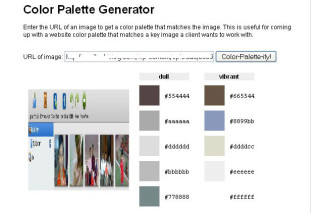 Abstract colour from online images via degraeve color-palette