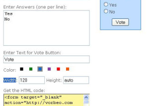 Vorbeo simply to create polls on website and find out your visitors opinion