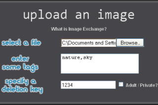 Imgxc upload images add tags and deletion code to the images