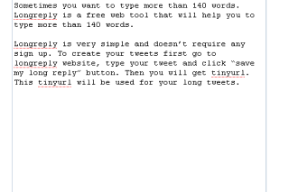 Longreply type your tweets more than 140 words