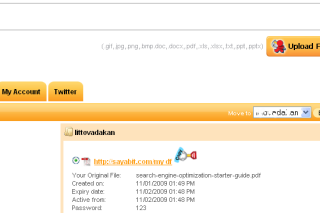 Sayabit make your files into short URL for sharing easily