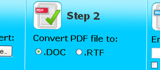 Convert your PDF files into DOC/RTF files via pdftoword