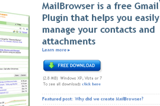 MailBrowser Gmail Plugin for managing your attachments and contacts