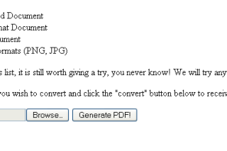 Convert your document into PDF format via pdf.danielprocter