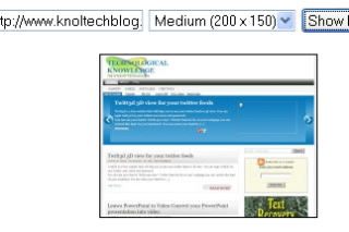Sitethumbshot create thumbnail view of website
