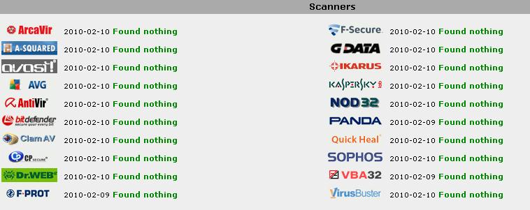 Jotti's-malware-scan