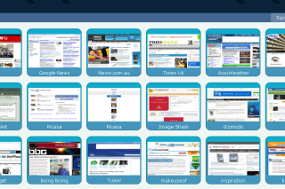 Transferr visual bookmark of websites access via simple mouse clicks