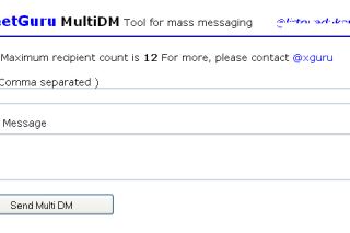 Tweetguru send direct messages multiple users in twitter