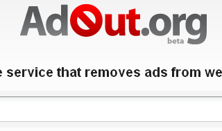 View websites without ads via adout