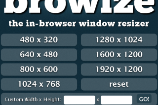Browize resize your browser easily