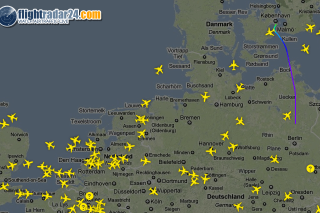 Flightradar24 live Flight traffice in Europe