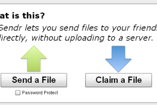 Quick file sharing to others via isendr