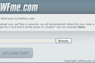 View and Host SWF files via swfme