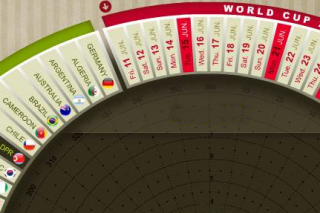 New electronic world cup calendar 2010