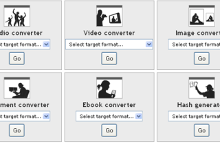 Convert media files into different formats via Online-convert