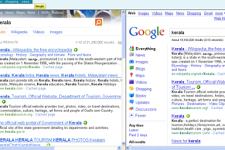 Search two search engines at same time via bingle