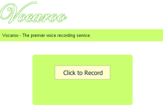 Vocaroo record your voice and sent to others