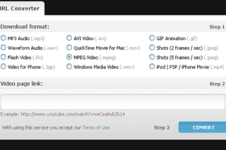 Convert online videos into different format via benderconverter