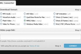 Convert online videos into different format via benderconverter