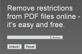 Pdfunlock remove restrictions from PDF files