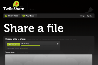 Twileshare share files via twitter