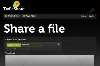 Twileshare share files via twitter