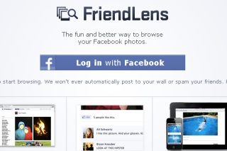 View facebook photos in better way via friendlens