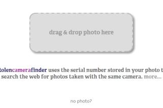 Find your stolen camera via stolencamerafinder