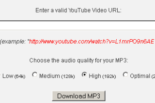 Convert Youtube videos into mp3 via vidgod