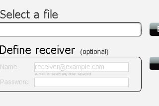Send large size files to other via clicktocopy