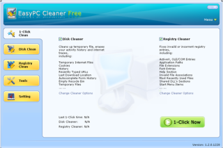 EasyPC Cleaner remove unused files from your system and allow to run fast