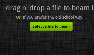 Share larges files quickly via justbeamit